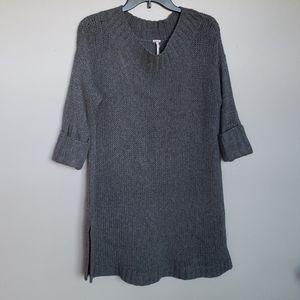 Free People cashmere tunic style sweater, sz small